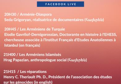 Live Facebook le 24 avril à 20h30