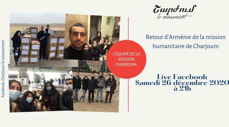 Retour d'Arménie de la mission humanitaire Charjoum