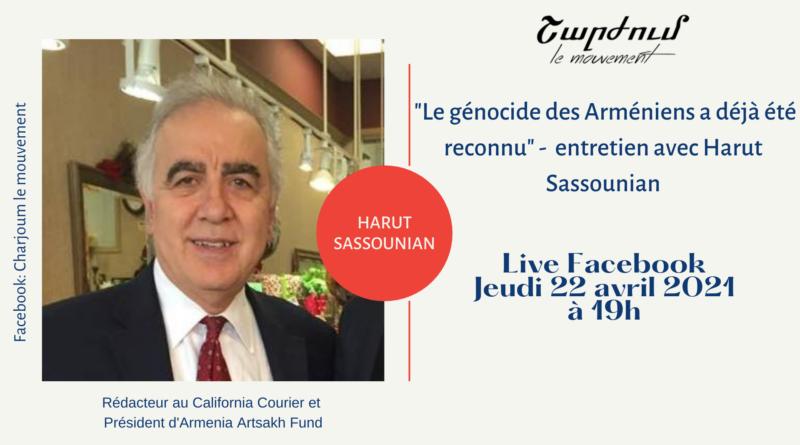 Live avec Harut Sassounian